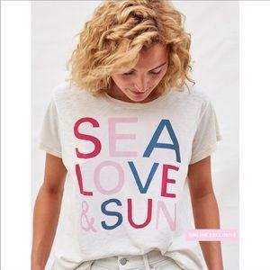 NWT SUNDRY / SEA LOVE SUN GRAPHIC TSHIRT